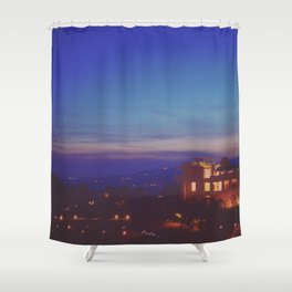 The Getty at Twilight Shower Curtain