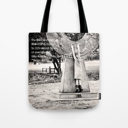Tippy Toes - Typography Tote Bag