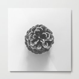 Layers of Warmth - Black and White Metal Print