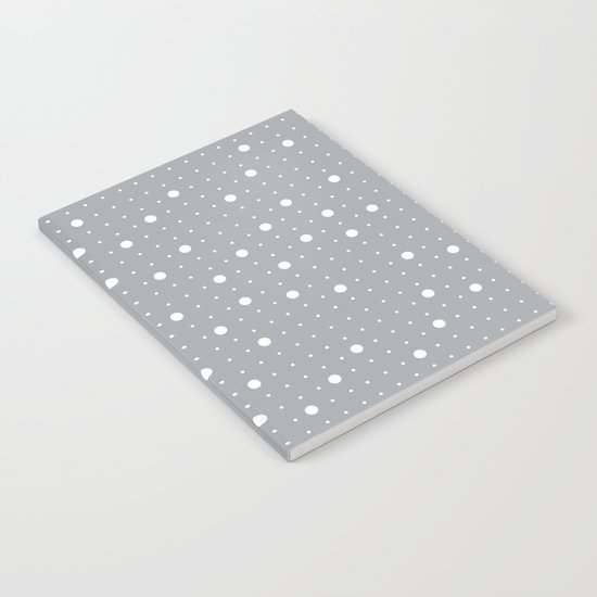 Pin Points Grey Notebook
