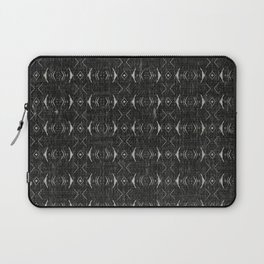 Charcoal Textured Ethnic Tribal Print Laptop Sleeve