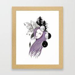 Three Moons Framed Art Print
