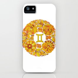 Gemini in Petrykivka Style (without artist's signature/date) iPhone Case