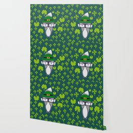 St. Patrick's Day decor with cute little fox Wallpaper