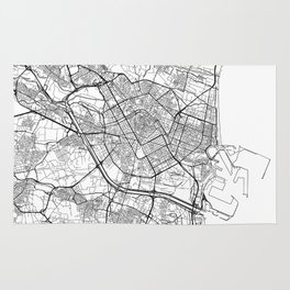 Valencia Map White Rug
