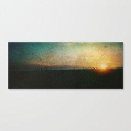 Barcelona Sundown Canvas Print