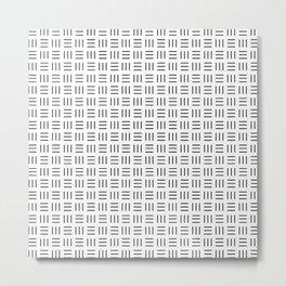 Security Pattern Metal Print