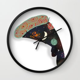 Space Pizza Wall Clock