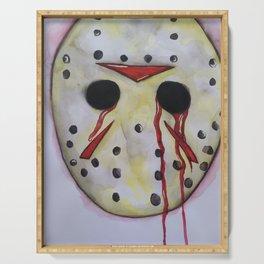 Jason Horror Watercolor Art Serving Tray