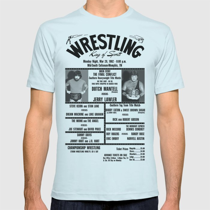 #16 Memphis Wrestling Window Card T-shirt