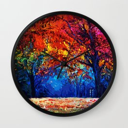 Tardis Tree Art Blossom Wall Clock