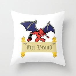 RED DEMON Throw Pillow