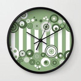 Circles and stripes Wall Clock