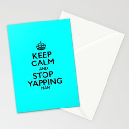 Keep Calm Stop Yapping Biden Trump Debate Stationery Cards