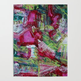 Amplify Modern Abstract Fine Art Painting Poster