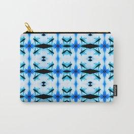 Blue Retro Romance Carry-All Pouch