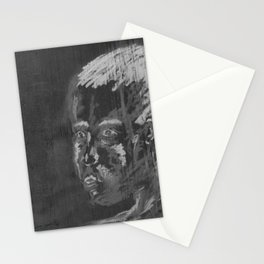 looking boy - black Stationery Cards