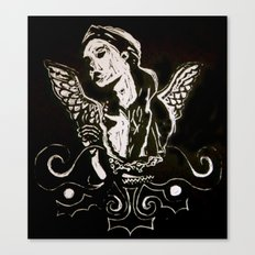 Black (Wings/Angel) Canvas Print