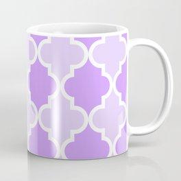Quatrefoil - light purple dual tone Coffee Mug