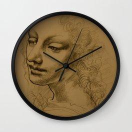Da Vinci Inspired Drawing Wall Clock