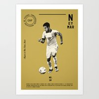 neymar Art Prints featuring Neymar by Dylan Giala