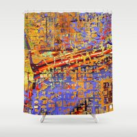 chicago bulls Shower Curtains featuring chicago by donphil