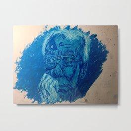 Blue man Metal Print