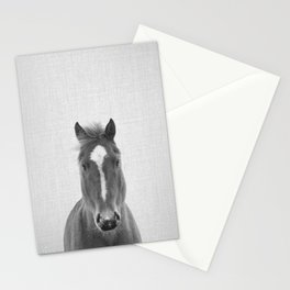 Horse II - Black & White Stationery Cards