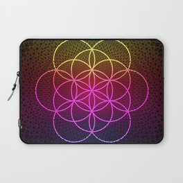 Sacred Rainbow Flower of Life Laptop Sleeve