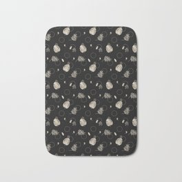 Silver Tropical Summer NEVER LOOK BACK typography Bath Mat
