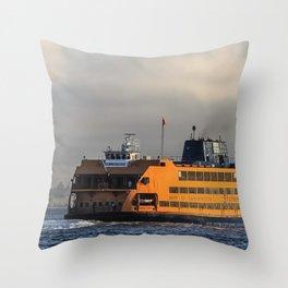 Big Orange Boat Throw Pillow