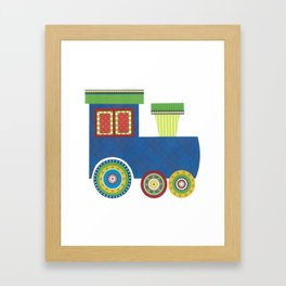 Kids Train Engine Framed Art Print