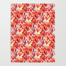 rough red marble Poster