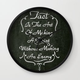 Lettering 001 Wall Clock