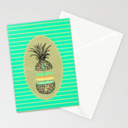 Sliced pineapple Stationery Cards