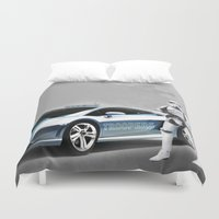 lamborghini Duvet Covers featuring Lamborghini Troopers by Vin Zzep