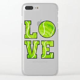 Love Tennis Tennis Racket Tennis Ball Gift Clear iPhone Case