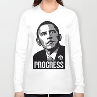 obama Long Sleeve T-shirts featuring Obama by loveme