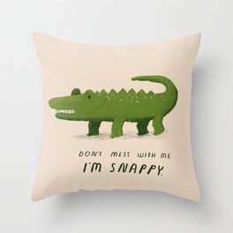 i'm snappy Throw Pillow