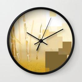 Glistening Leaves Wall Clock