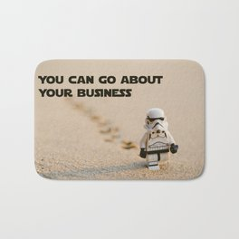 You can go about your business Bath Mat