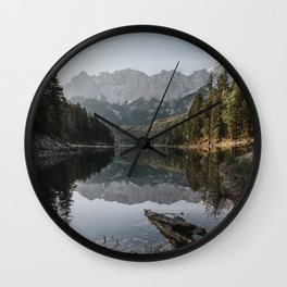 Lake View - Landscape and Nature Photography Wall Clock