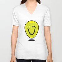 cara V-neck T-shirts featuring Cara by c4cruz