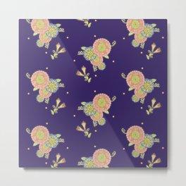 night flowers purple Metal Print