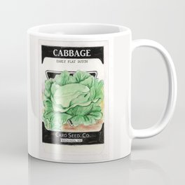 Cabbage Seed Packet Coffee Mug