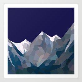 Geo Mountain Range (Part 5) Art Print
