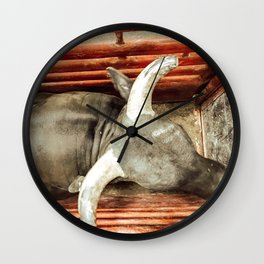In the Chute Wall Clock