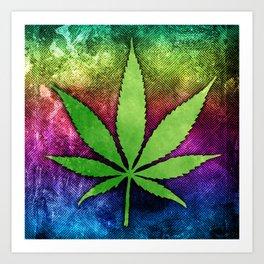 Pot Leaf Art Print