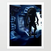 xenomorph Art Prints featuring Xenomorph by Lokason Illustration