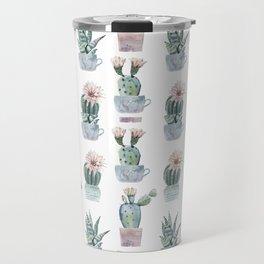 Girly Rose Cactus Pots Travel Mug
